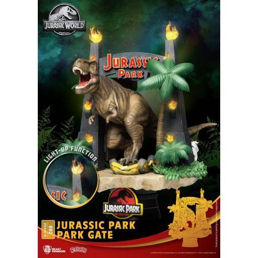 Diorama Beast Kingdom Jurassic Park D-Stage Park Gate 15 cm [0]