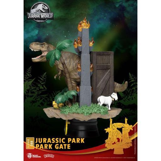 Diorama Beast Kingdom Jurassic Park D-Stage Park Gate 15 cm [1]