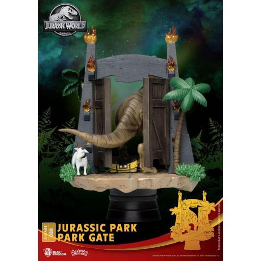 Diorama Beast Kingdom Jurassic Park D-Stage Park Gate 15 cm [2]