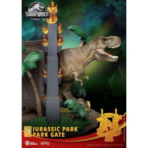 Diorama Beast Kingdom Jurassic Park D-Stage Park Gate 15 cm [3]
