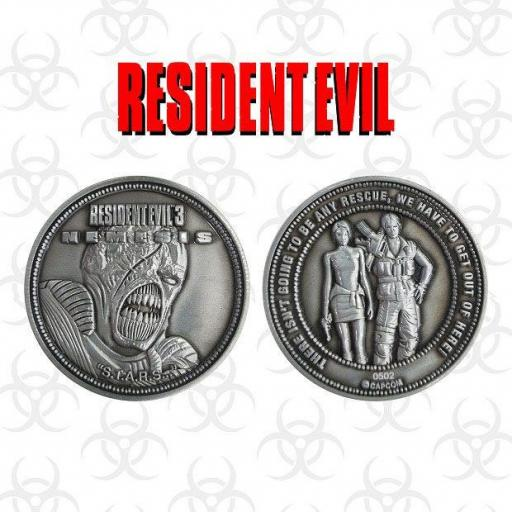 Moneda Resident Evil 3 Jill Carlos y Nemesis Limited Edition