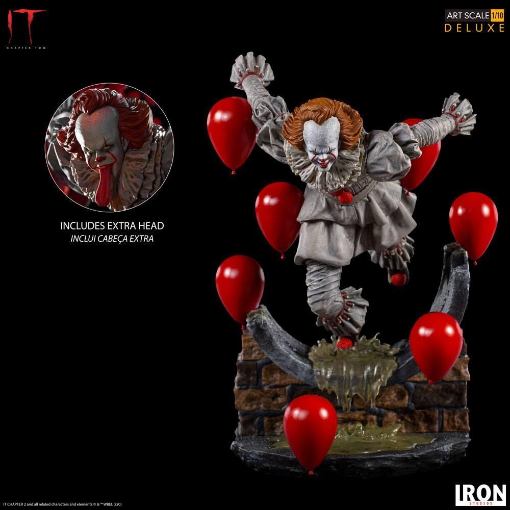 Estatua Iron Studios IT Capítulo 2 Deluxe Art Scale Pennywise 21 cm