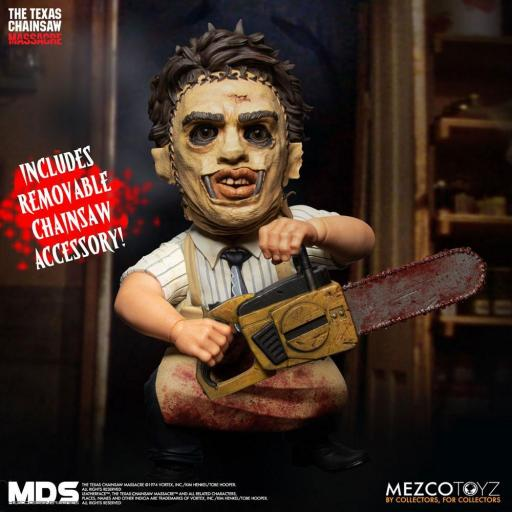 Figura Articulada Mezco Toyz La Matanza de Texas MDS Leatherface 15 cm