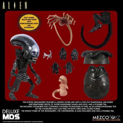 Figura Articulada Mezco Toyz Alien MDS Deluxe Xenomorph 18 cm [3]