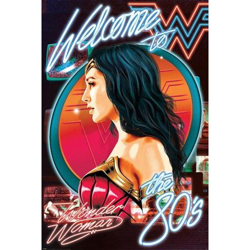 Poster 61 x 91 Wonder Woman Welcome to the 80s