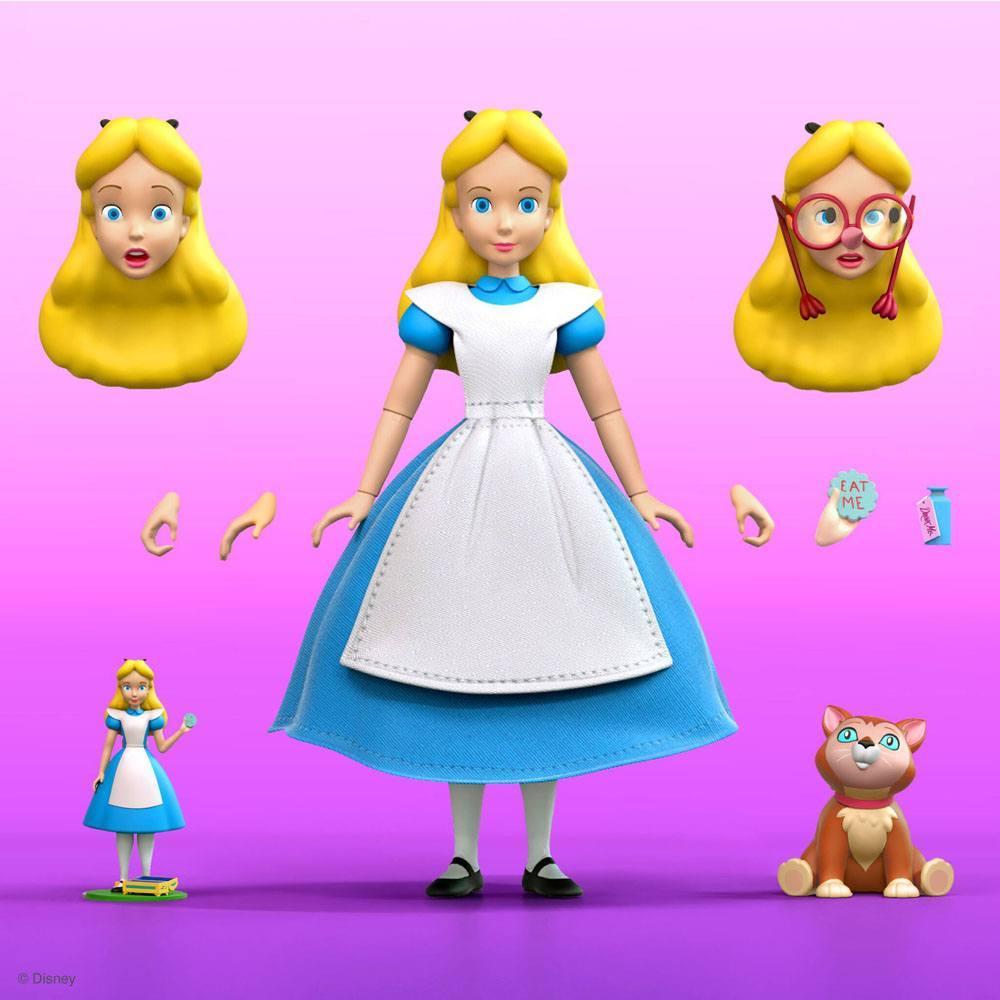 Figura articulada Disney Ultimates Alicia en el país de las maravillas Alice 18 cm