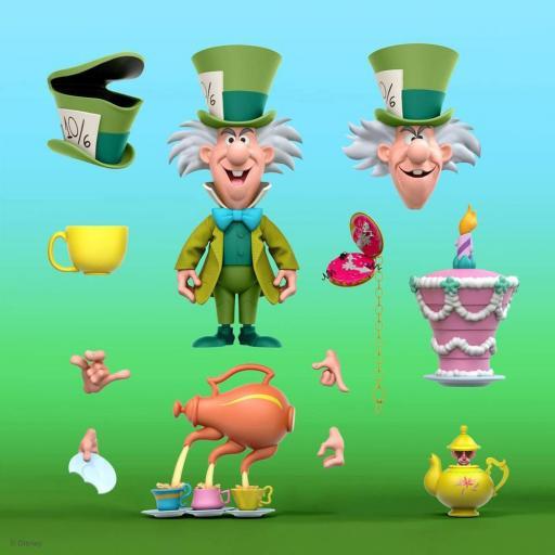 Figura articulada Disney Ultimates Alicia en el país de las maravillas The Tea Time Mad Hatter 18 cm
