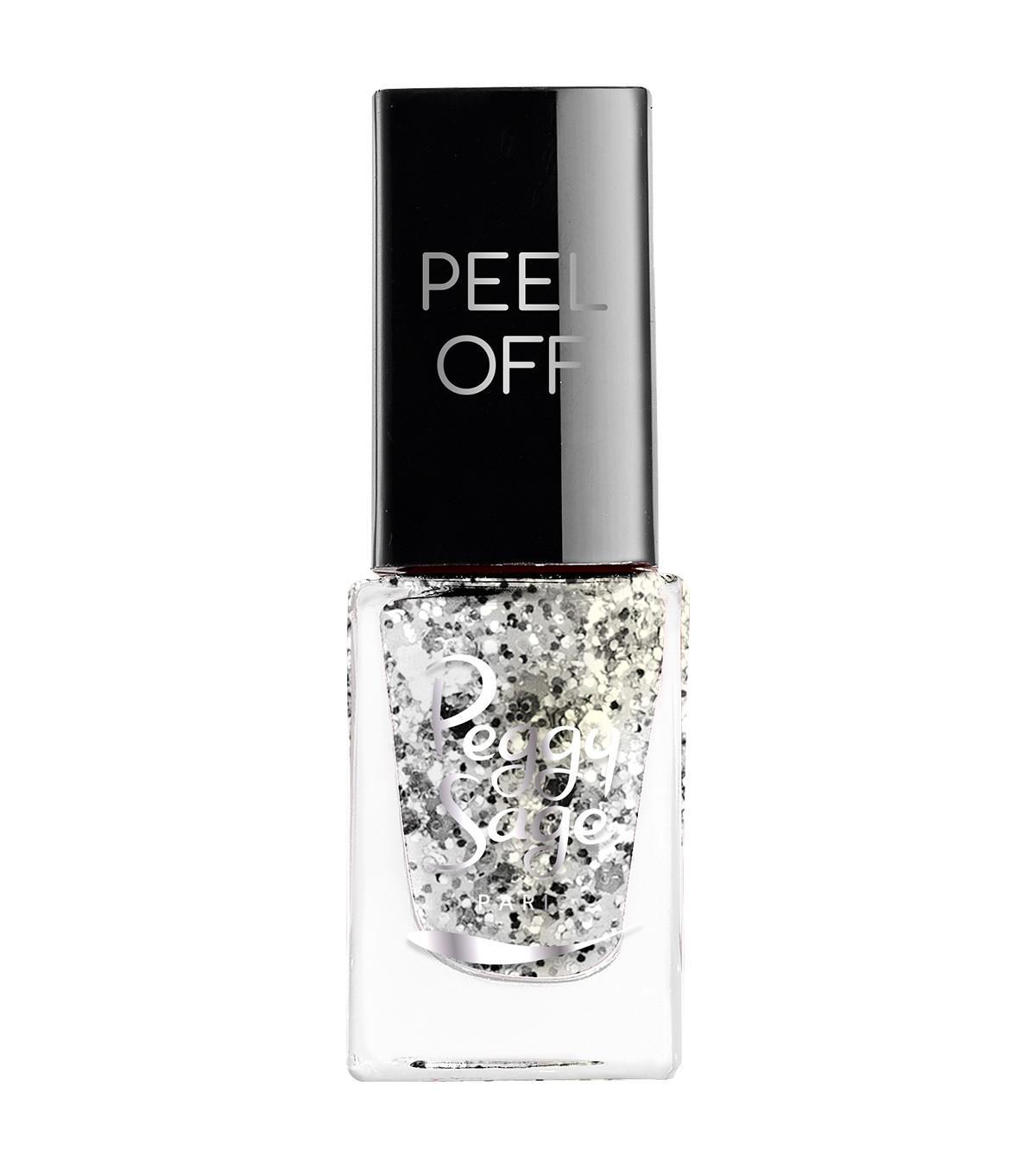 Esmalte mini Peel Off Silver glitter