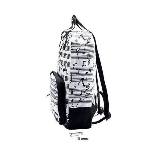 Mochila Música Blanca y Negra [1]