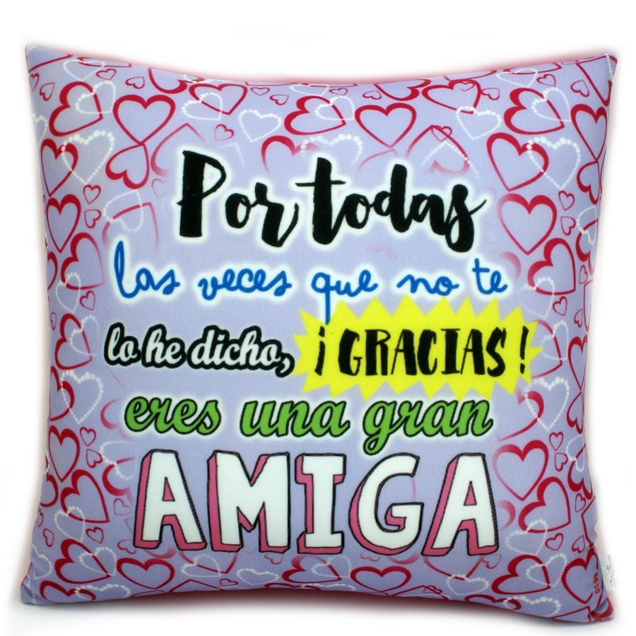 Cojín Gracias Amiga.