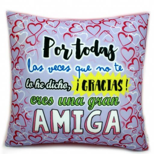 Cojín Gracias Amiga. [0]