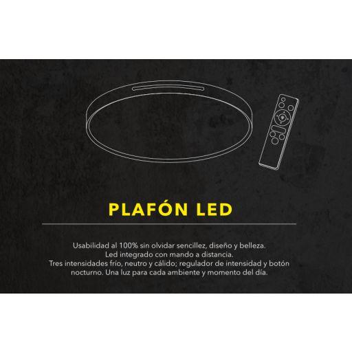 Plafón Led Cromo 40 cms Denver [1]