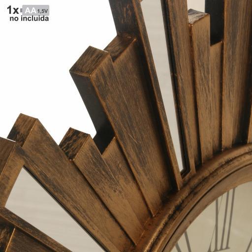 Reloj Pared Resina Dorado 57.5 cm [1]