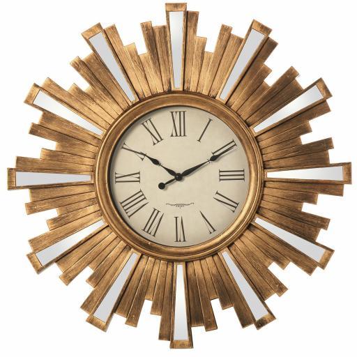 Reloj Pared Resina Dorado 57.5 cm