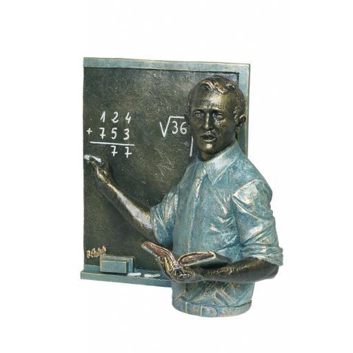 Escultura Profesor con Pizarra de Anglada