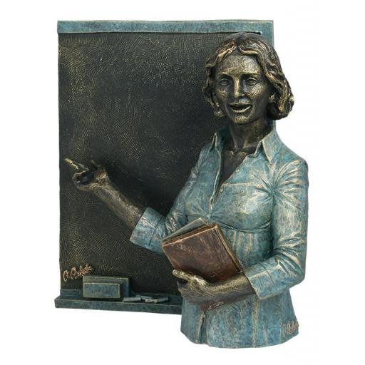 Escultura Profesora con Pizarra de Anglada
