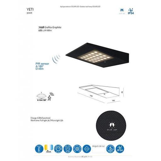 Aplique Solar Exterior Yeti [2]