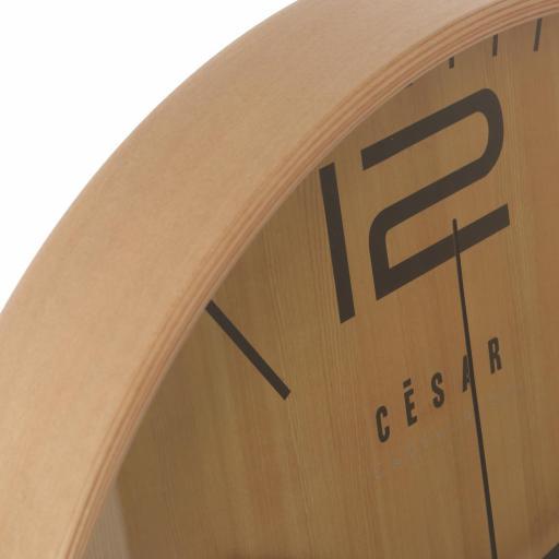 Reloj Pared Madera Color Haya Redondo [1]