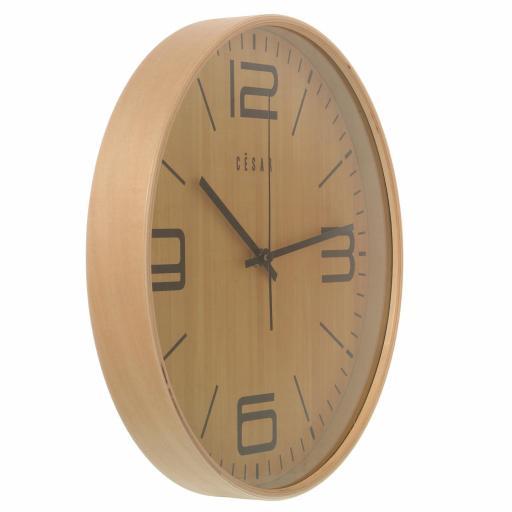 Reloj Pared Madera Color Haya Redondo [2]