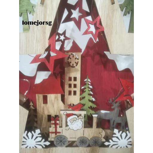 Estrella Madera Papá Noel  con Luz [1]