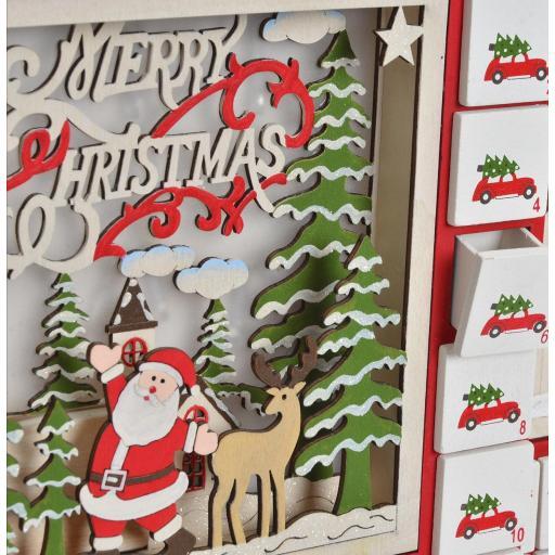 Calendario Adviento Papá Noel con Luz Led [2]