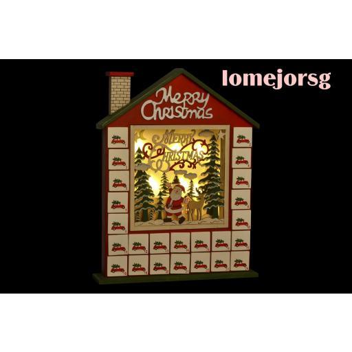 Calendario Adviento Papá Noel con Luz Led [1]