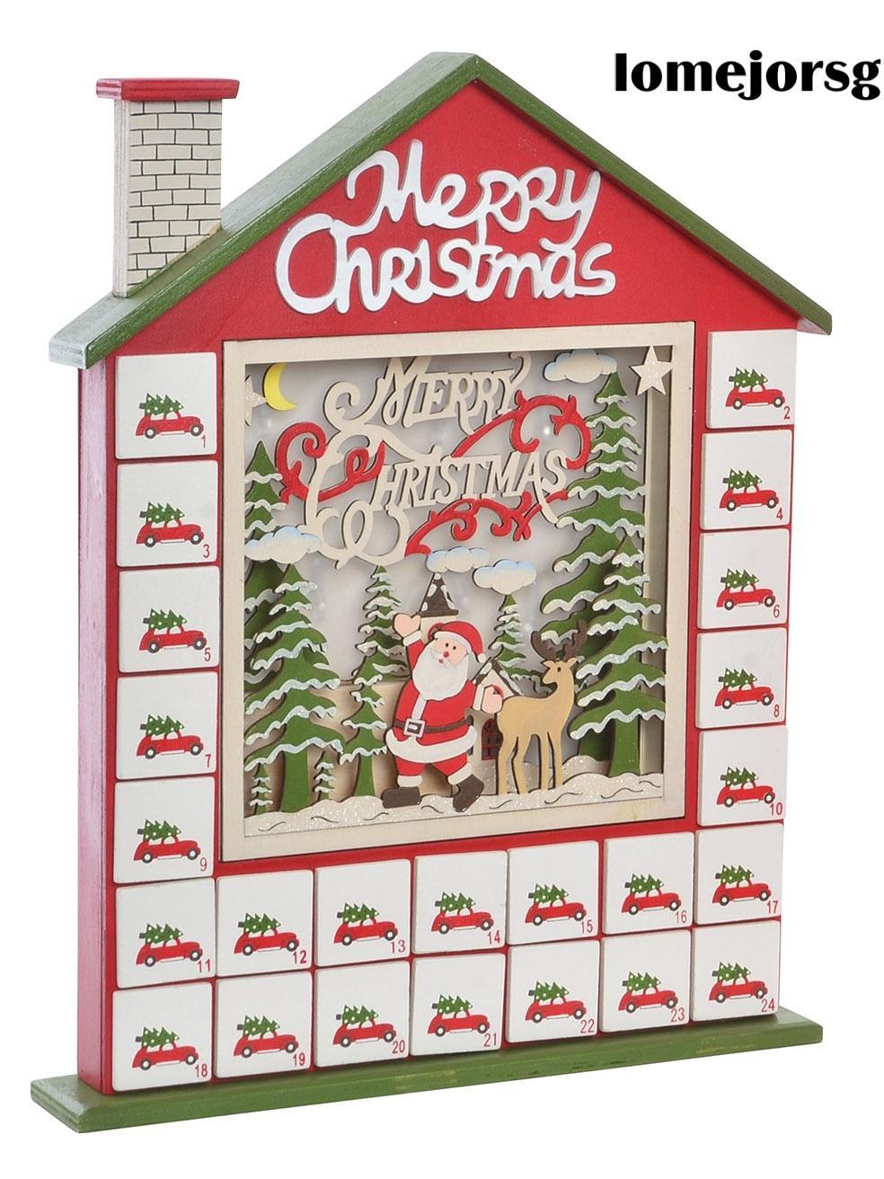 Calendario Adviento Papá Noel con Luz Led