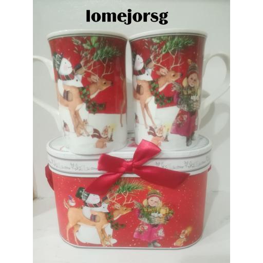 Juego 2 Mug Porcelana Papá Noel  [1]
