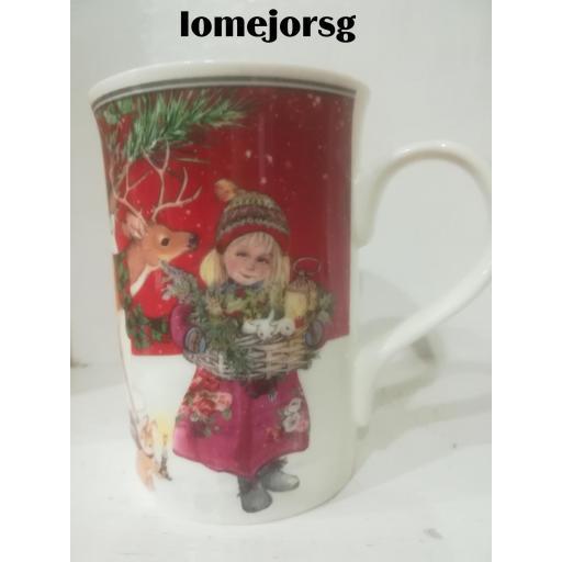 Juego 2 Mug Porcelana Papá Noel