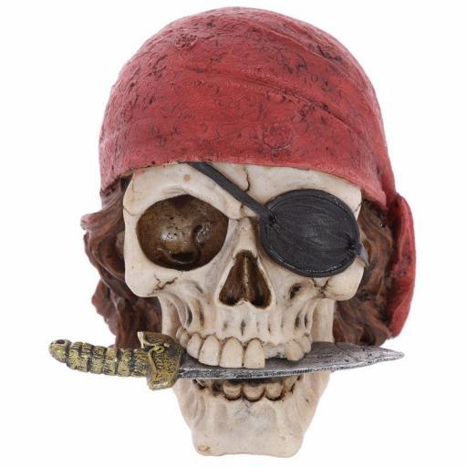 Calavera Pirata Pañuelo Rojo