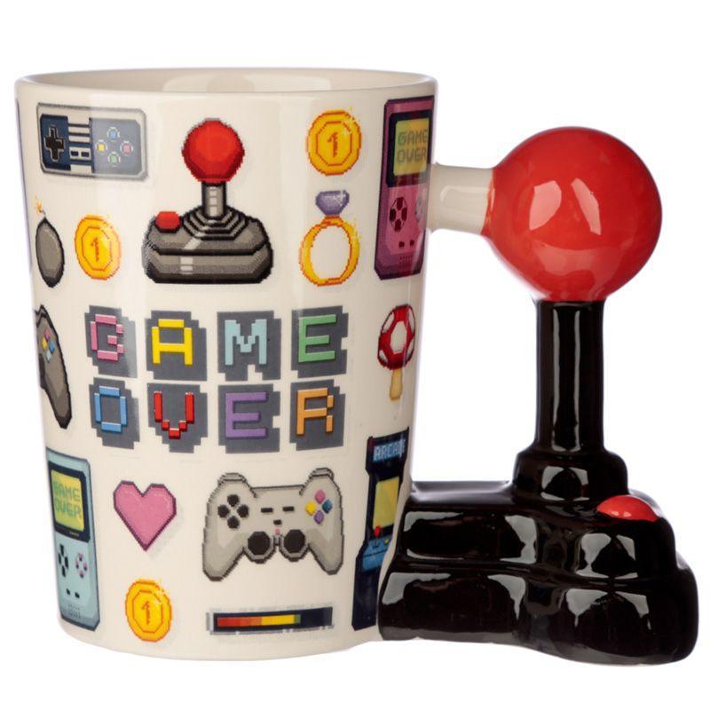 Taza Asa Joystick y Pixel Game Over