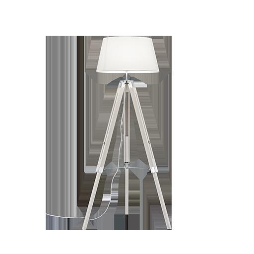 Lámpara Pie Tripod Blanco [1]