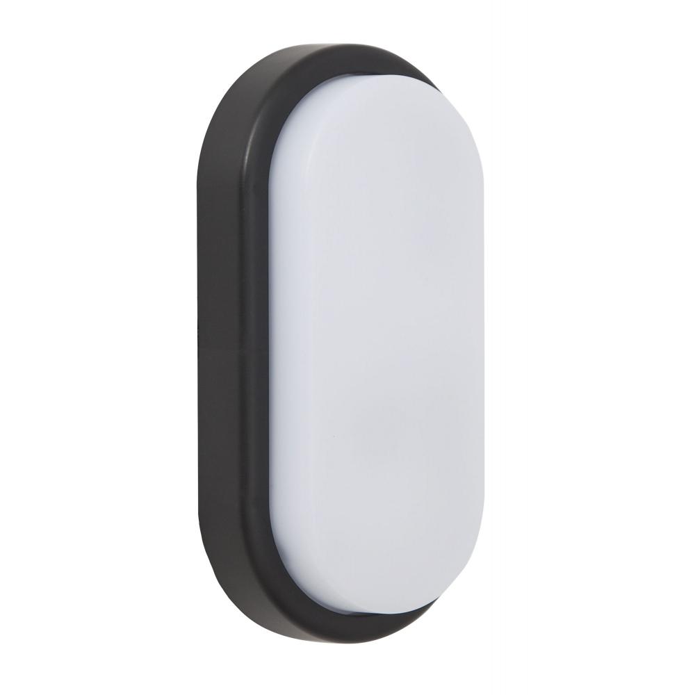 Aplique Led Exterior Surf Oval Negro