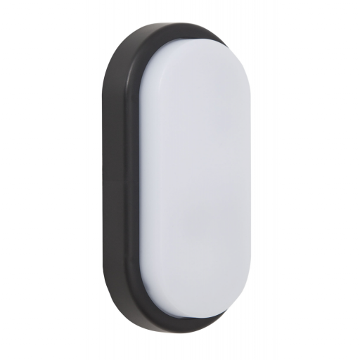 Aplique Led Exterior Surf Oval Negro
