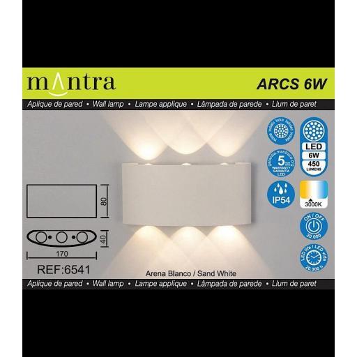 Aplique Led Exterior ARCS Blanco [2]