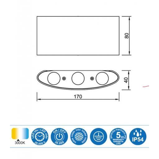 Aplique Led Exterior ARCS Blanco [1]