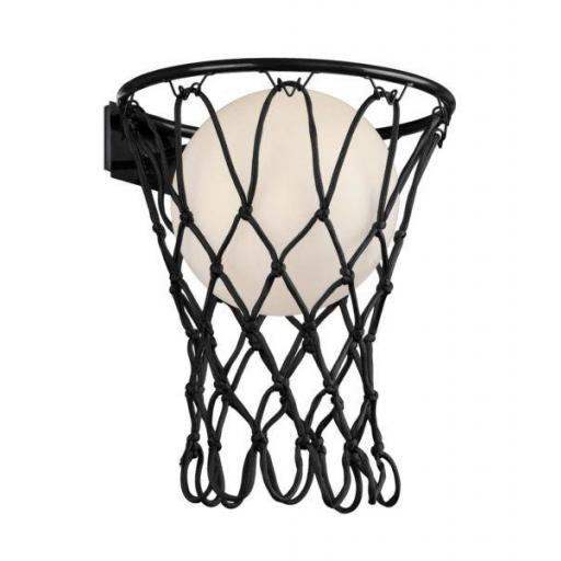 Lámpara Aplique Basketball Negro