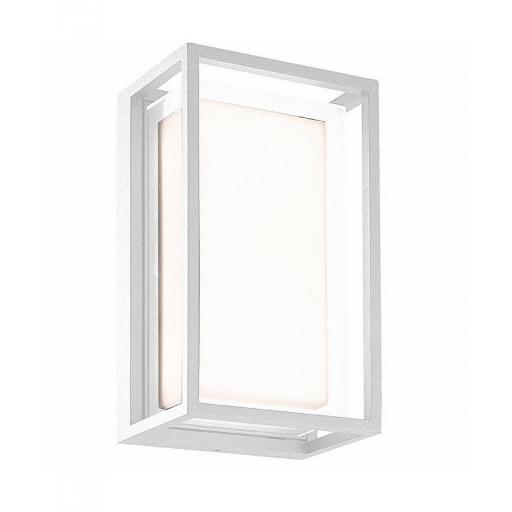 Plafón Aplique Exterior Chamonix Rectangular Blanco