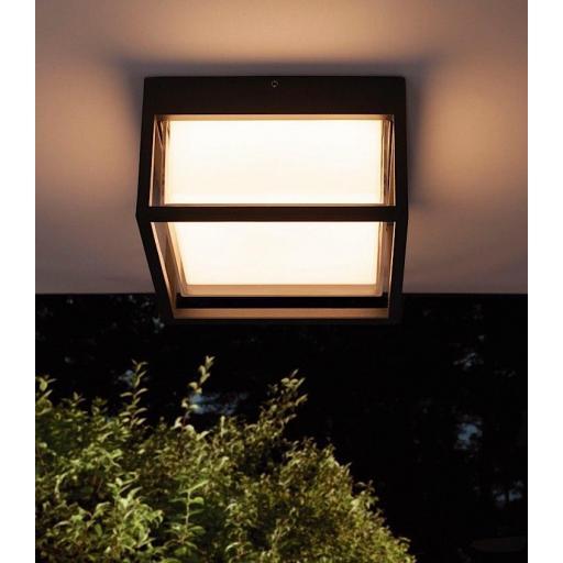 Plafón Aplique Exterior Chamonix Cuadrado Gris Oscuro [1]