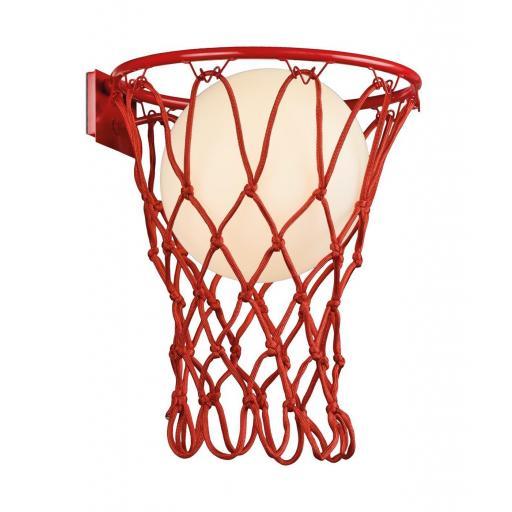 Lámpara Aplique Basketball Rojo
