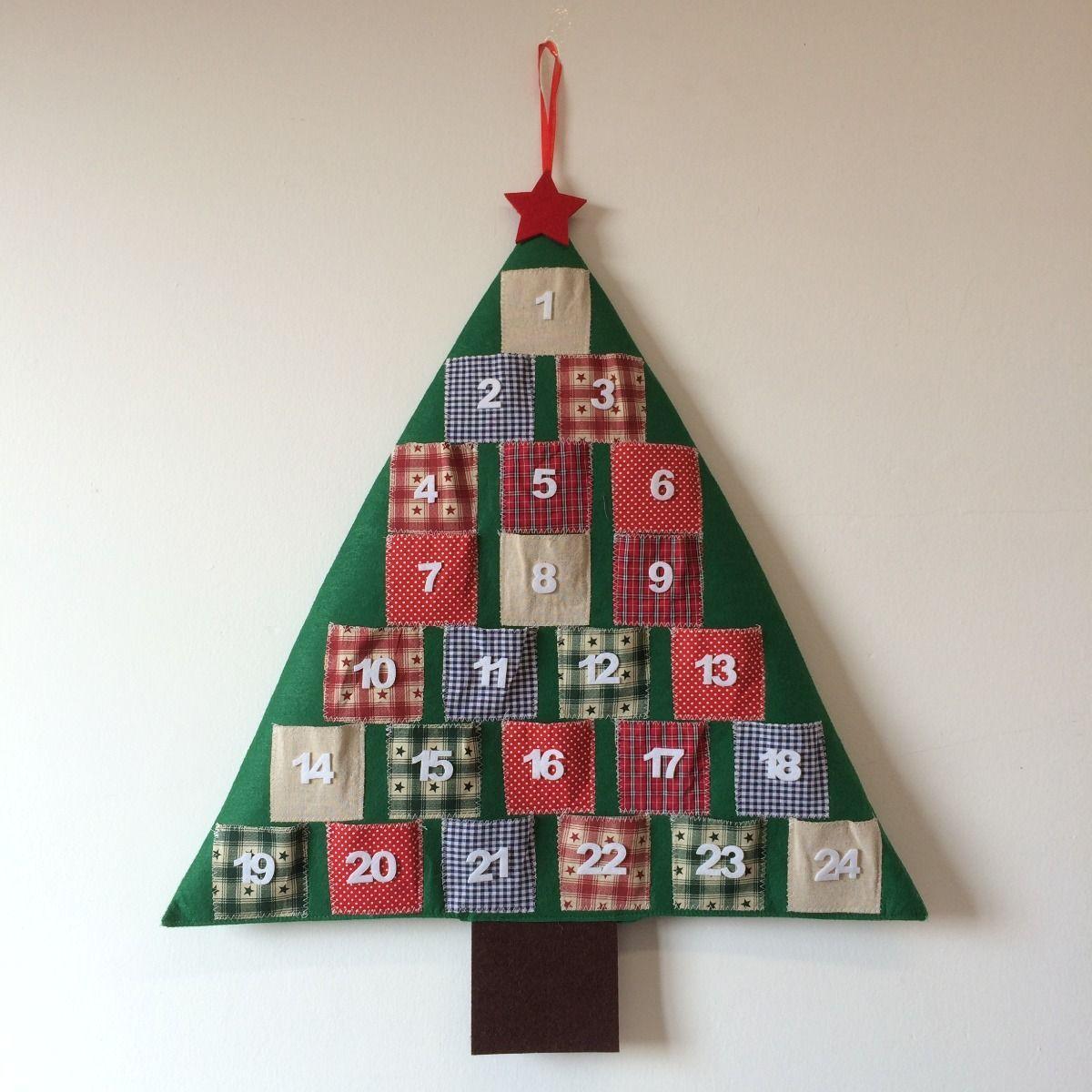 Calendario Adviento Árbol Patchwork