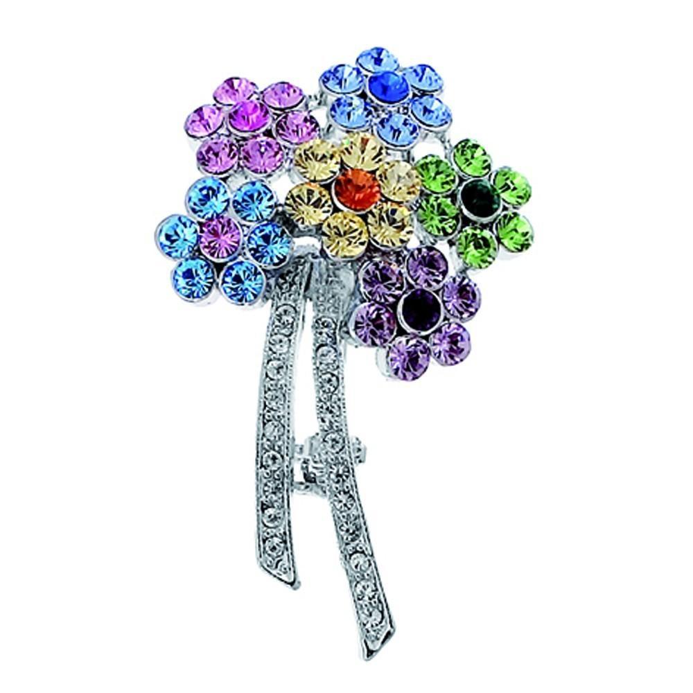 Broche Swarovski Flowers bunt