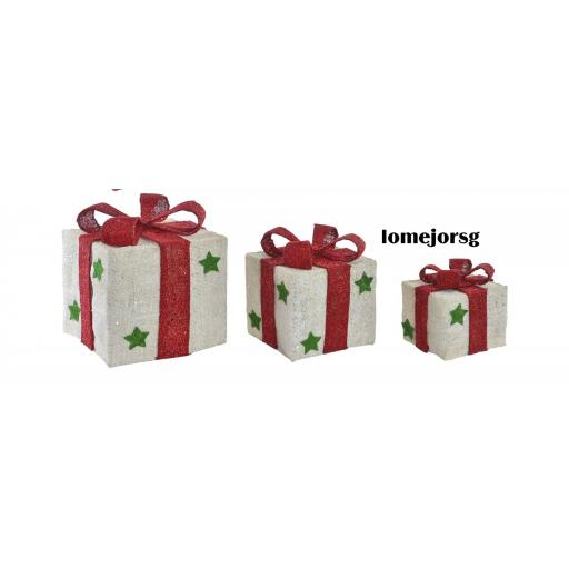 Juego 3 Cajas Regalos con Luz Led Navidad [0]