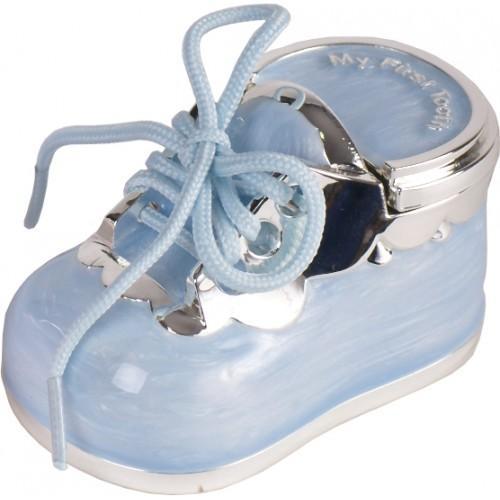 Caja Guarda Dientes Zapato Celeste
