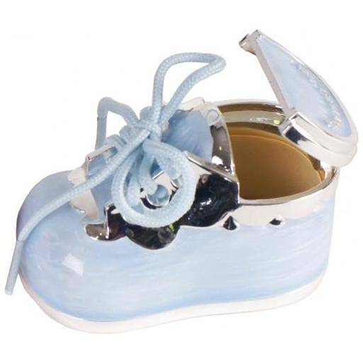 Caja Guarda Dientes Zapato Celeste [1]