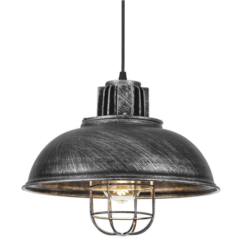 Lámpara Colgante Emu Rústico Plata