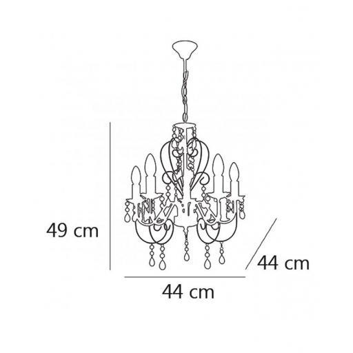 Lámpara Tilia Cromo 5/L [2]