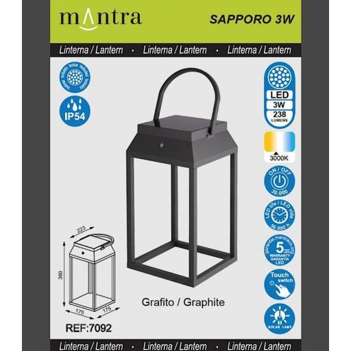 Sobremesa-Farol Solar Exterior Sapporo Grafito Grande [3]