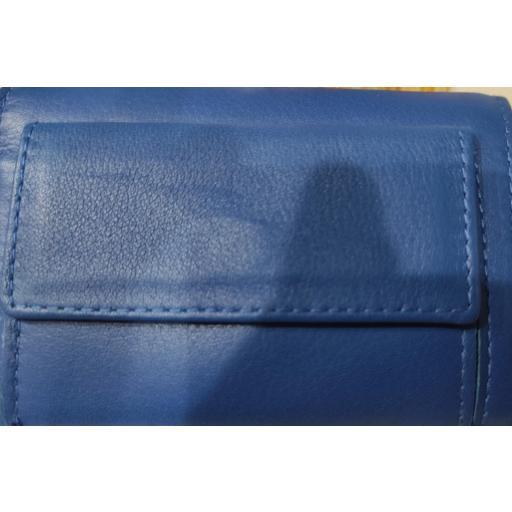 Monedero  Piel Ubrique  Azul con Llavero y Tarjetero [1]