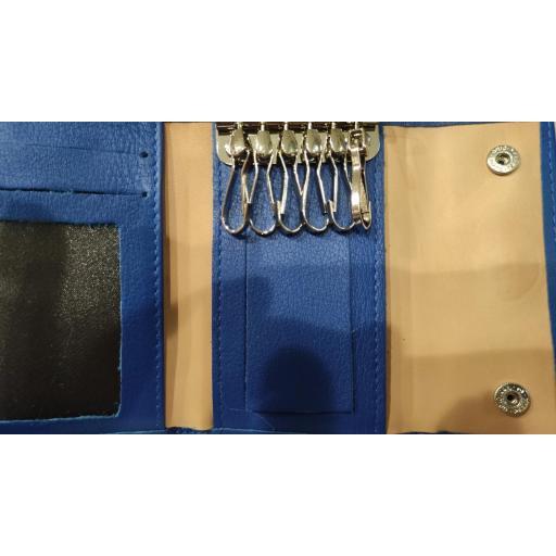 Monedero  Piel Ubrique  Azul con Llavero y Tarjetero [2]
